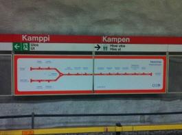 Helsinki has a delightfully simple metro map