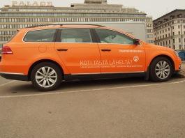Real estate firm Huoneistökeskus are known for their orange