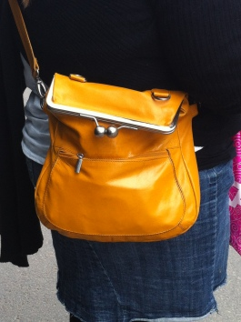 Cute bag spotted at the bus stop.